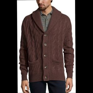 Jach's Cabin- Cable Knit Wool Blend Cardigan